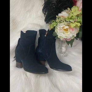 NWOT Blue Suede Matiko Boots